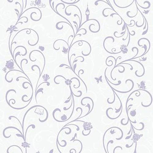 Disney Kids III Disney Princess Scroll Stripe Wallpaper