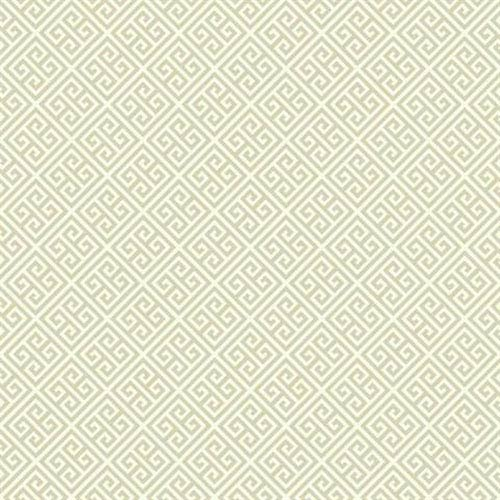 Carey Lind Vibe Greek Key Beige and Cream Wallpaper- Sample Swatch ONLY