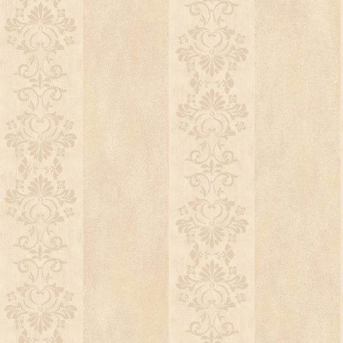 Arlington Cream and Beige Stencil Stripe Wallpaper