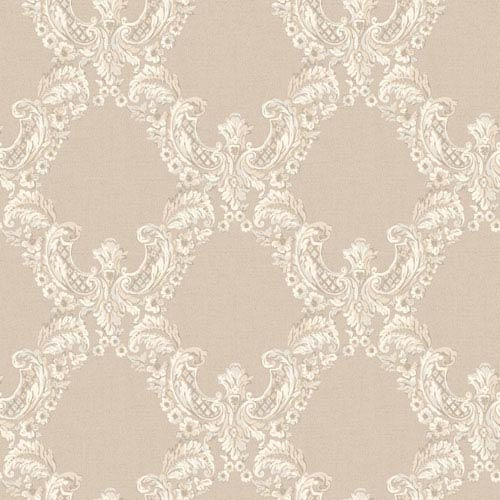 York Wallcoverings Arlington Ecru and Taupe 2 Color Trellis Wallpaper