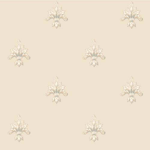 Arlington Beige and Cream Ornamental Harlequin Wallpaper: Sample Swatch Only