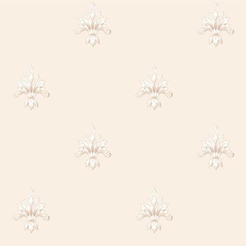 Arlington Cream and White Ornamental Harlequin Wallpaper