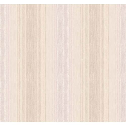 York Wallcoverings Arlington Cream and Light Purple Stria Sidewall Wallpaper: Sample Swatch Only