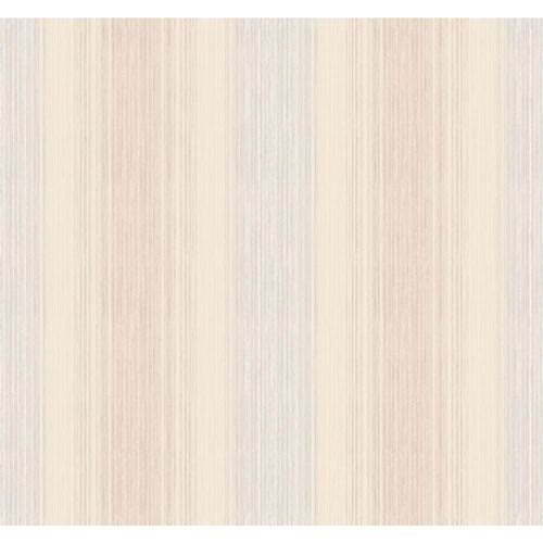 York Wallcoverings Arlington Cream and Pale Blue Stria Sidewall Wallpaper