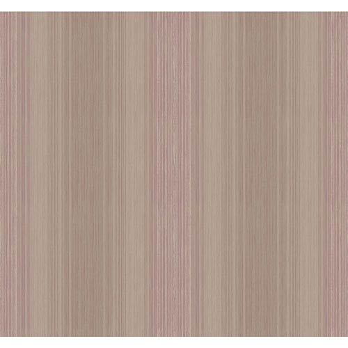 York Wallcoverings Arlington Silver and Purple Stria Sidewall Wallpaper