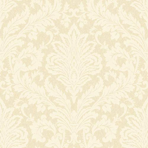 Shimmering Topaz Golden Pearl and Cream Full Damask Wallpaper: Sample Swatch Only