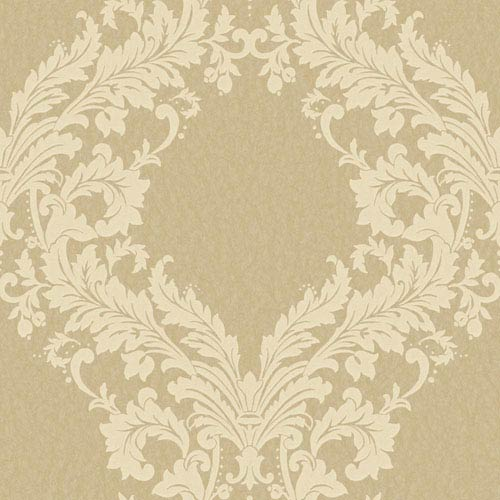 Shimmering Topaz Metallic Gold and Pale Yellow Open Frame Wallpaper