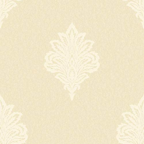 Shimmering Topaz Golden Pearl and Cream Damask Spot Wallpaper: Sample Swatch Only