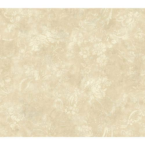 Shimmering Topaz Cream and Beige Textured Rose Wallpaper: Sample Swatch Only