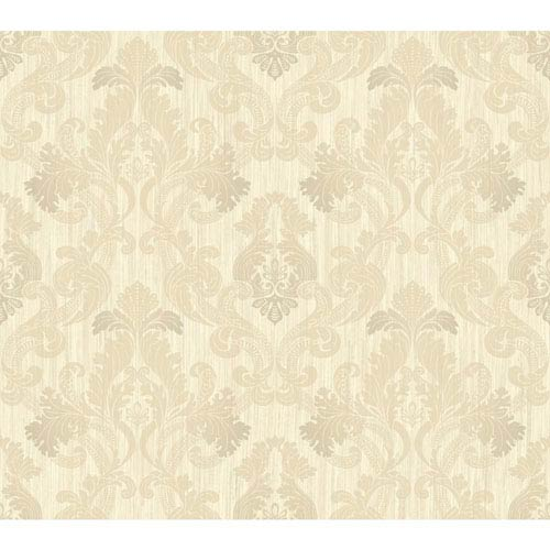 York Wallcoverings Shimmering Topaz Cream And Gold Framed Ombre
