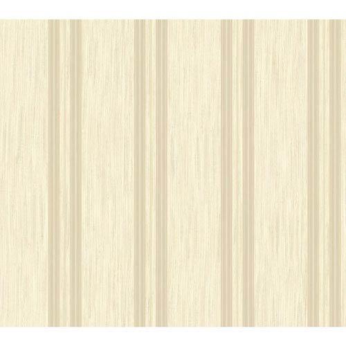 Shimmering Topaz Metallic Gold and Beige Threaded Stria Strip Wallpaper
