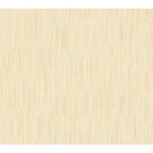 Shimmering Topaz Cream and Beige Threaded Stria Wallpaper: Sample Swatch Only