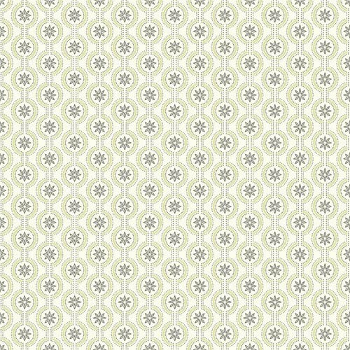York Wallcoverings Waverly Cottage Cream and Asparagus Green Chantal Wallpaper
