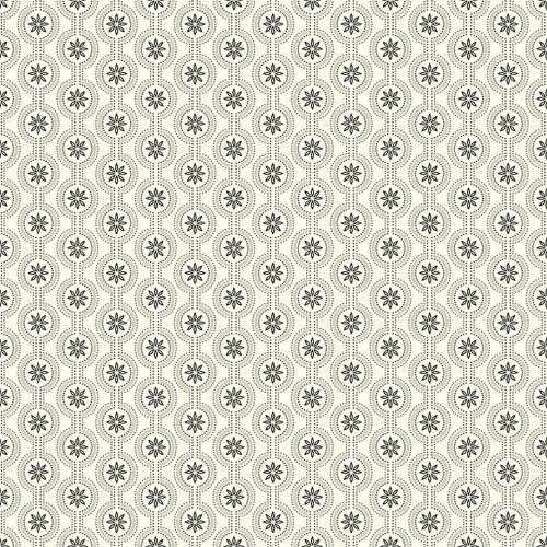 Waverly Cottage Cream, Silver and Black Chantal Wallpaper
