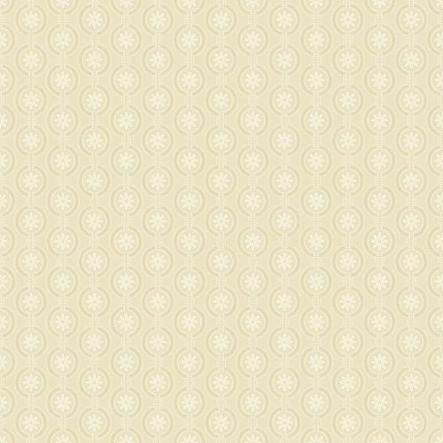York Wallcoverings Waverly Cottage Beige, White and Ecru Chantal Wallpaper: Sample Swatch Only