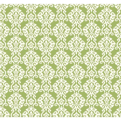 York Wallcoverings Waverly Cottage Pearlescent Lemon Lime and Snow White Luminary Wallpaper: Sample Swatch Only