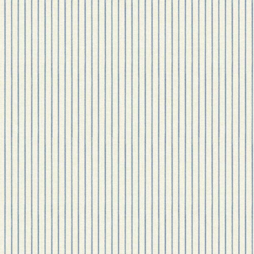 York Wallcoverings Waverly Cottage White and Blue Highwire Stripe Wallpaper: Sample Swatch Only