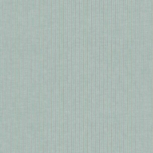 York Wallcoverings Waverly Cottage Pale Aqua and Grey Highwire Stripe Wallpaper: Sample Swatch Only