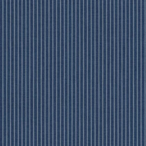 York Wallcoverings Waverly Cottage Ink Blue and Chalk White Highwire Stripe Wallpaper