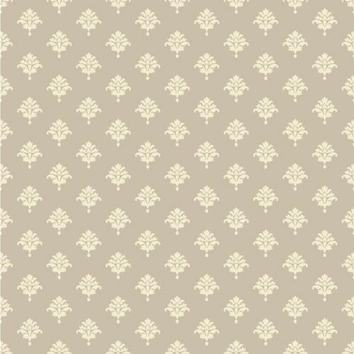 York Wallcoverings Waverly Cottage Light Grey and Cream Bling It on Wallpaper