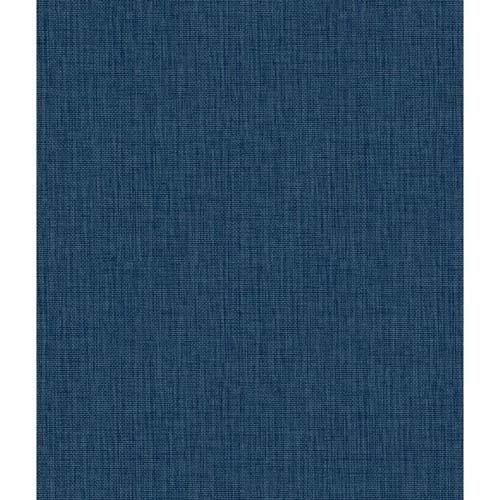 York Wallcoverings Waverly Cottage Ink Blue Sweet Grass Wallpaper: Sample Swatch Only