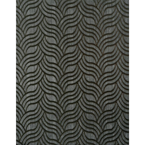 Enchantment Graphite and Pewter Sheen Nouveau Wallpaper: Sample Swatch Only