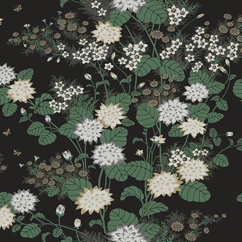 Florence Broadhurst Gold Chinese Floral Wallpaper