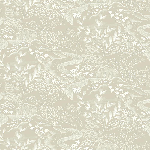 Florence Broadhurst Taupe Waterfall Gardens Wallpaper