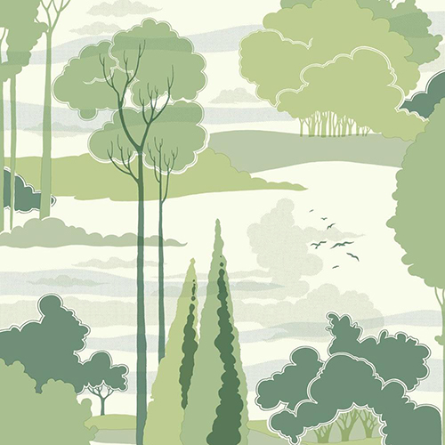 Florence Broadhurst Green Macarthur Park Wallpaper