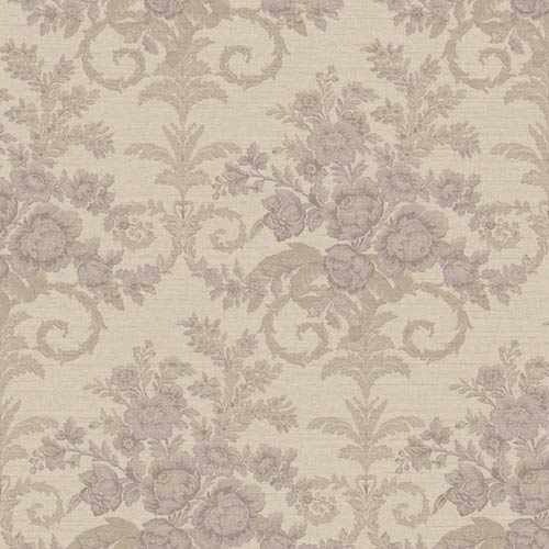 York Wallcoverings Riverside Park Taupe and Wisteria Wallpaper: Sample Swatch Only