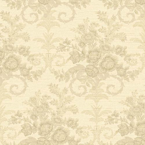 York Wallcoverings Riverside Park Creamy White, Cocoa and Taupe Wallpaper: Sample Swatch Only