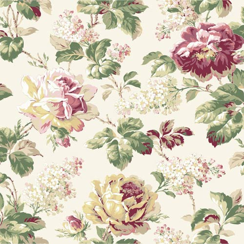 York Wallcoverings Riverside Multi-Colored Wallpaper: Sample Swatch Only