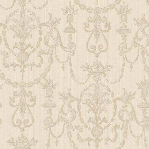 York Wallcoverings Riverside Park Beige and Light Taupe Wallpaper: Sample Swatch Only