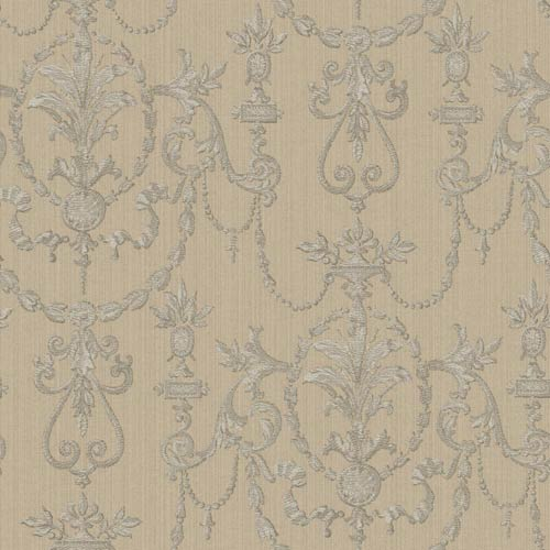 York Wallcoverings Riverside Park Pale Taupe and Soft Lilac Gray Wallpaper: Sample Swatch Only