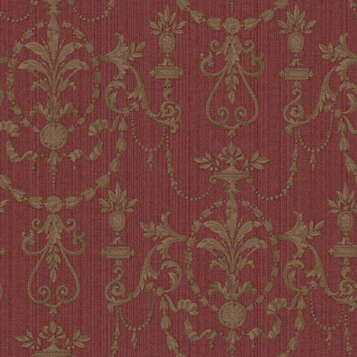 York Wallcoverings Riverside Park Russet, Tan and Brown Wallpaper: Sample Swatch Only