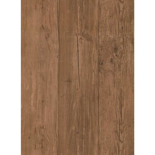 York Wallcoverings Inspired by Color Brown Wide Wooden Planks Wallpaper