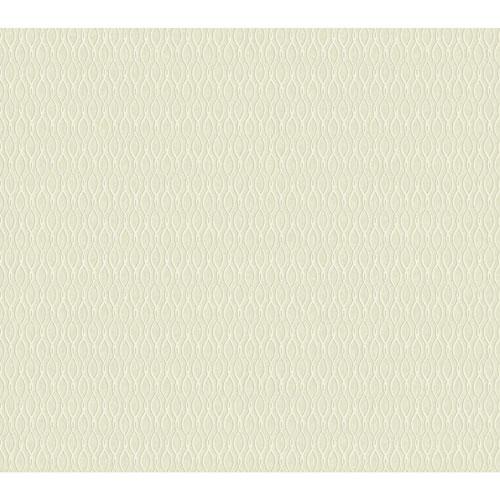 Filigree Dancing Ribbon White Wallpaper