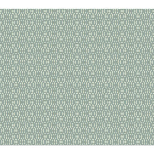 York Wallcoverings Filigree Dancing Ribbon Blue Wallpaper - SAMPLE SWATCH ONLY
