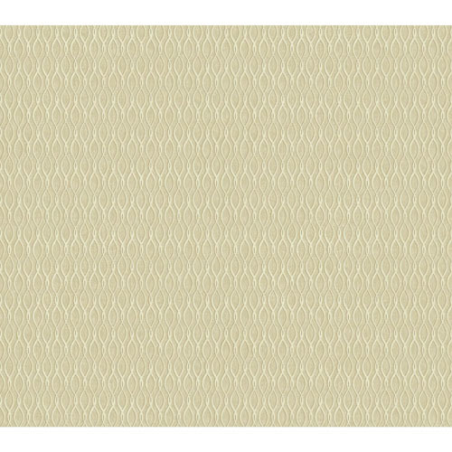 York Wallcoverings Filigree Dancing Ribbon White Wallpaper