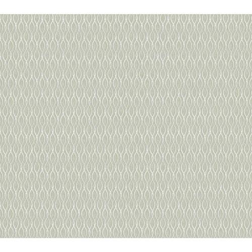 York Wallcoverings Filigree Dancing Ribbon Black Wallpaper