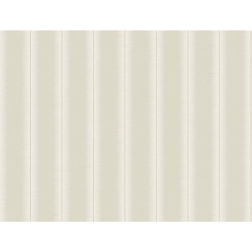 York Wallcoverings Filigree Luminous Stripe Beige Wallpaper