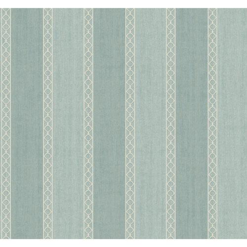 Filigree Oculus Stripe Green Wallpaper