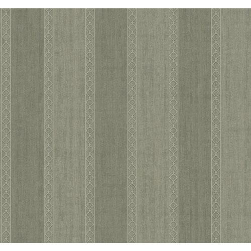 York Wallcoverings Filigree Oculus Stripe Black Wallpaper - SAMPLE SWATCH ONLY