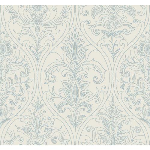 Filigree Detail Damask Ivory Wallpaper