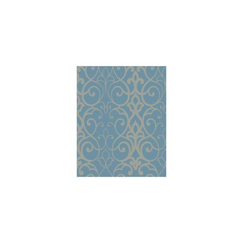 York Wallcoverings Filigree Filigree Trellis Blue Wallpaper
