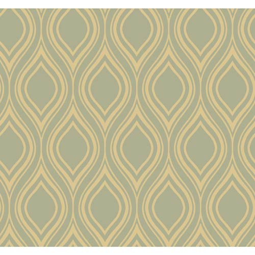 York Wallcoverings Inspired by Color Silver and Taupe Wallpaper
