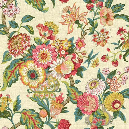 Waverly Global Chic Beige and Yellow Graceful Garden Wallpaper