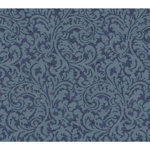 Waverly Global Chic Blue Namaste Scroll Wallpaper