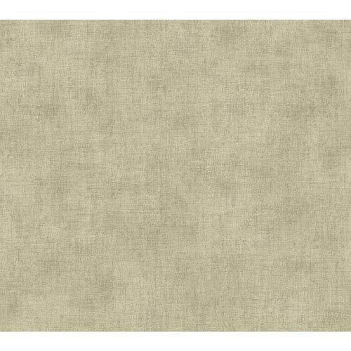 Waverly Global Chic Beige and Taupe Texture Broken Linen Wallpaper