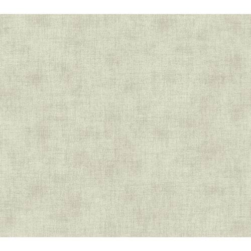 Waverly Global Chic Cream and Grey Texture Broken Linen Wallpaper: Sample Swatch Only